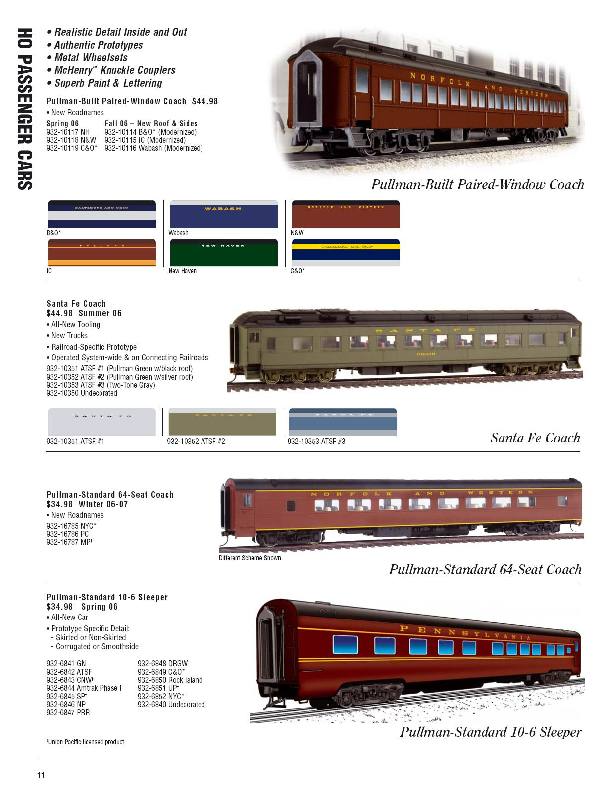 Walthers 2006 Cataloge Passenger page 3