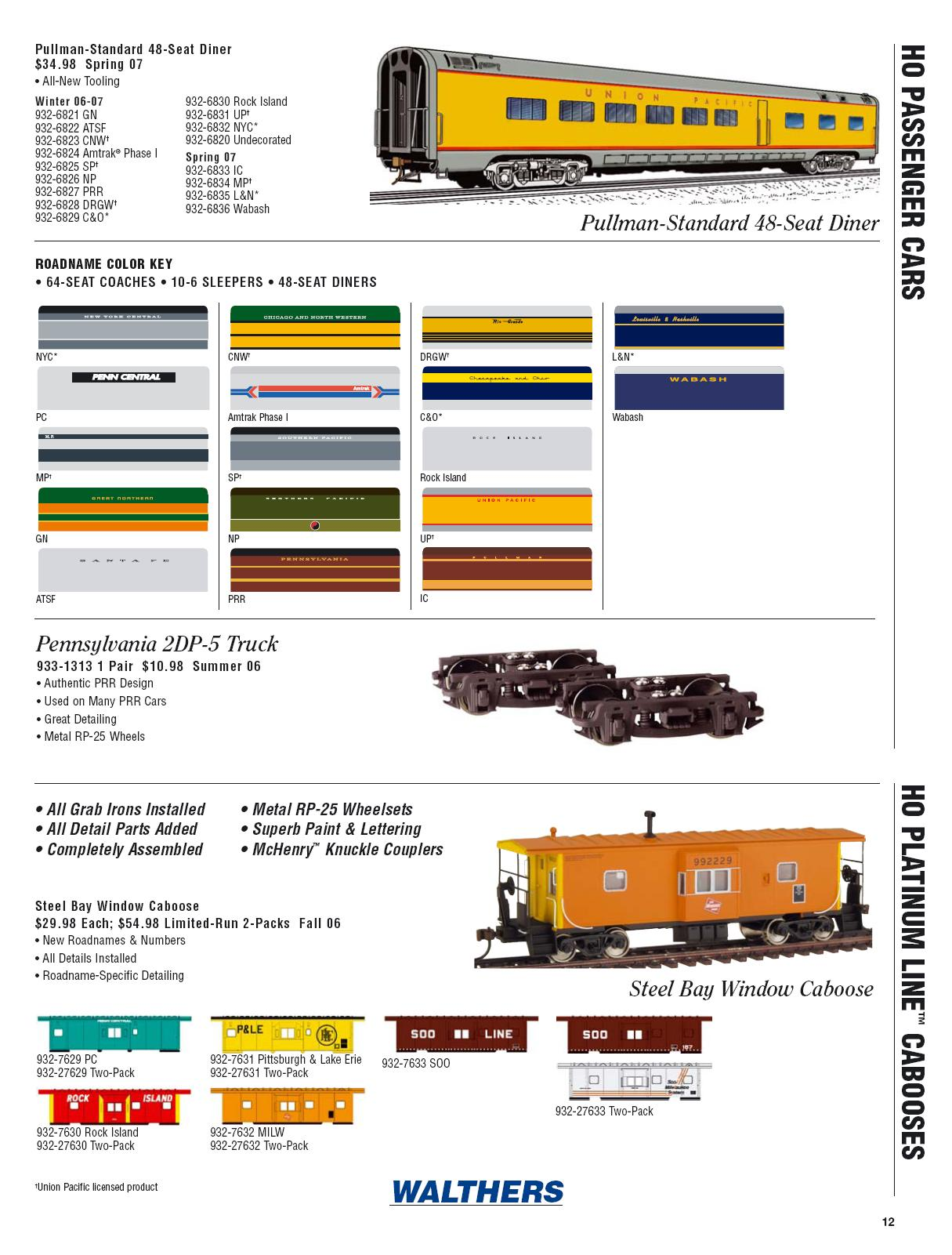 Walthers 2006 Cataloge Passenger page 4