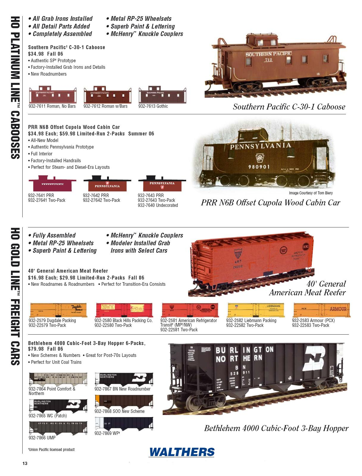 Walthers 2006 Cataloge Passenger page 5