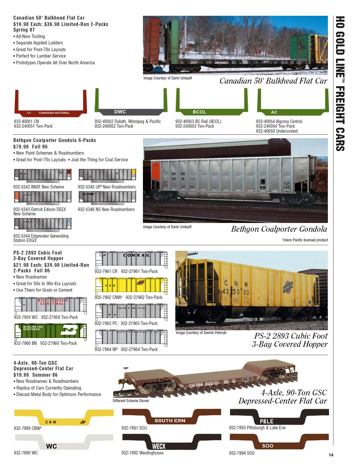 Walthers 2006 Cataloge Passenger page 6