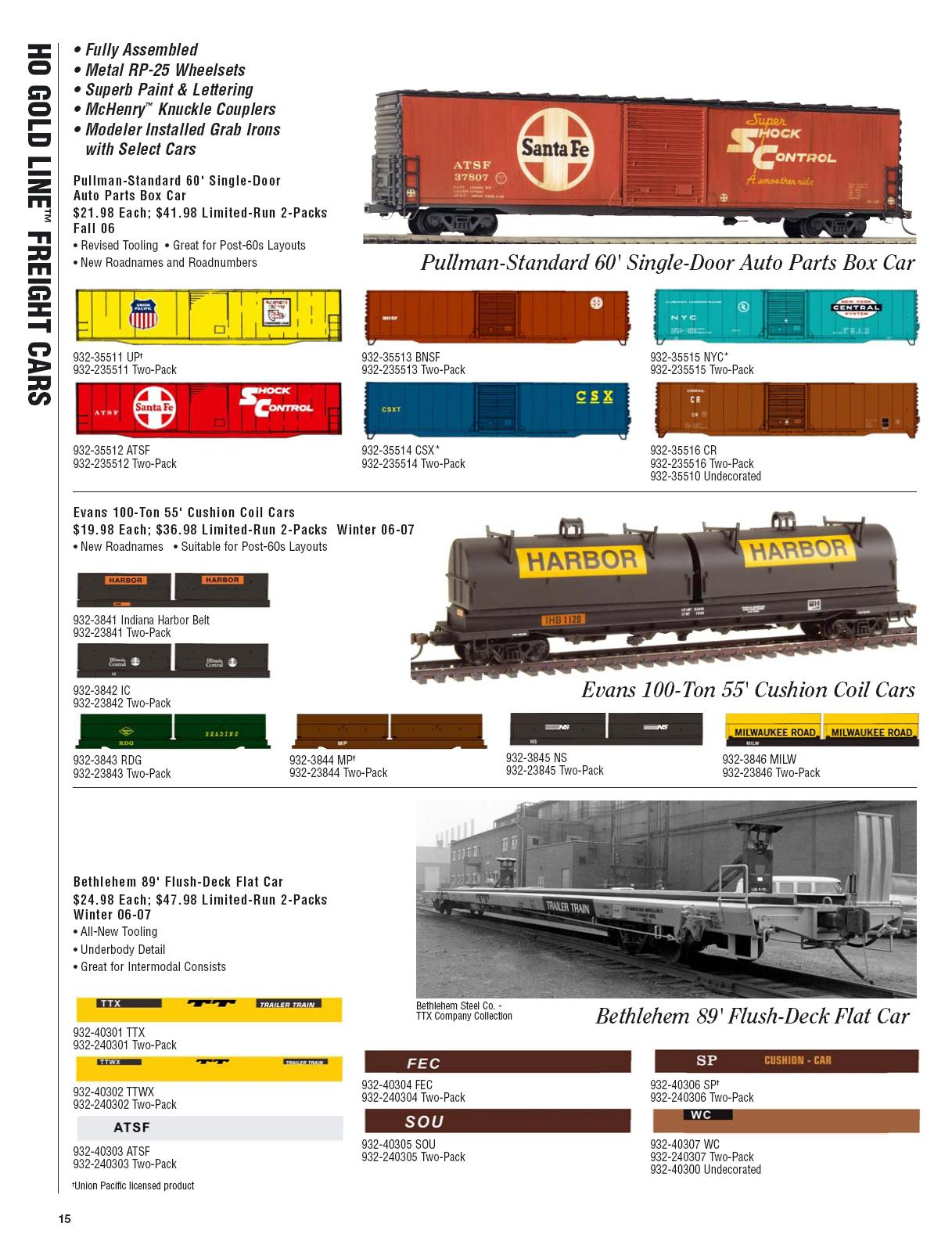 Walthers 2006 Cataloge Passenger page 7