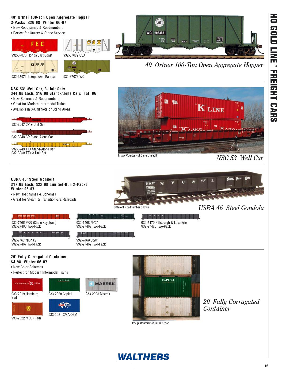 Walthers 2006 Cataloge Passenger page 8