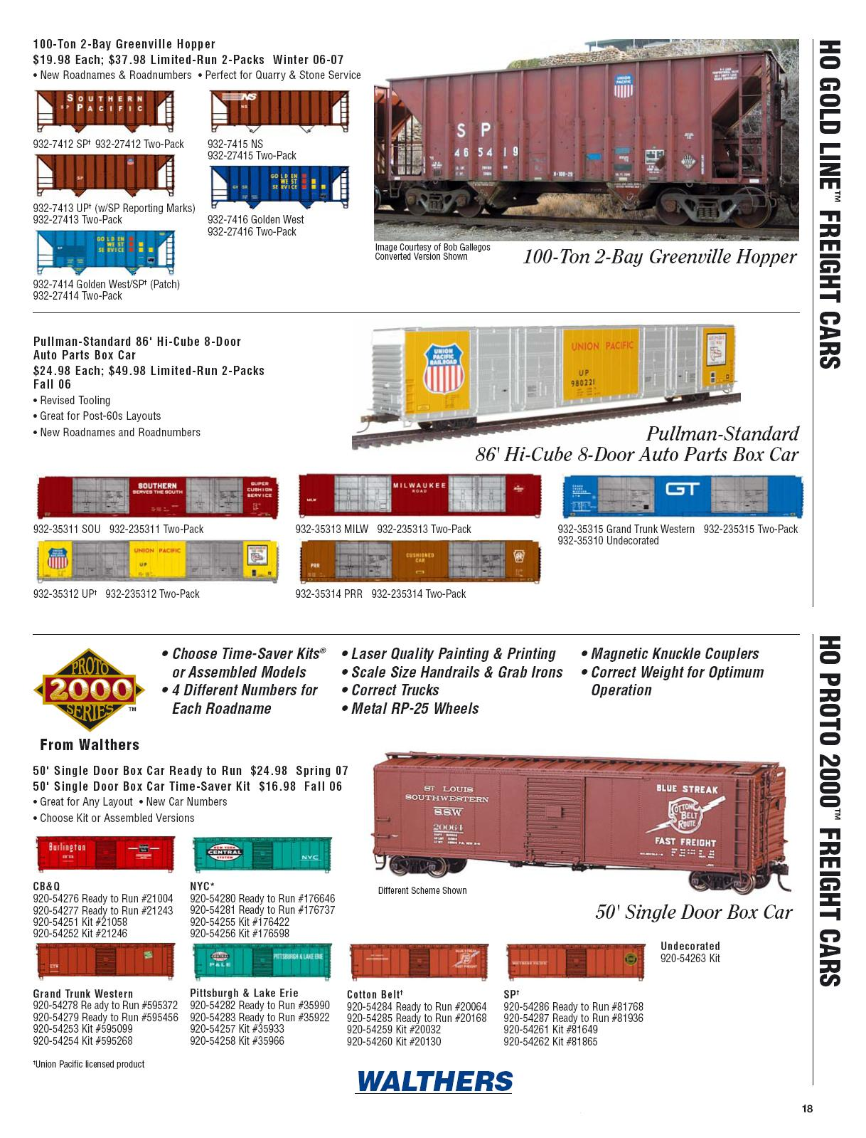 Walthers 2006 Cataloge Passenger page 10