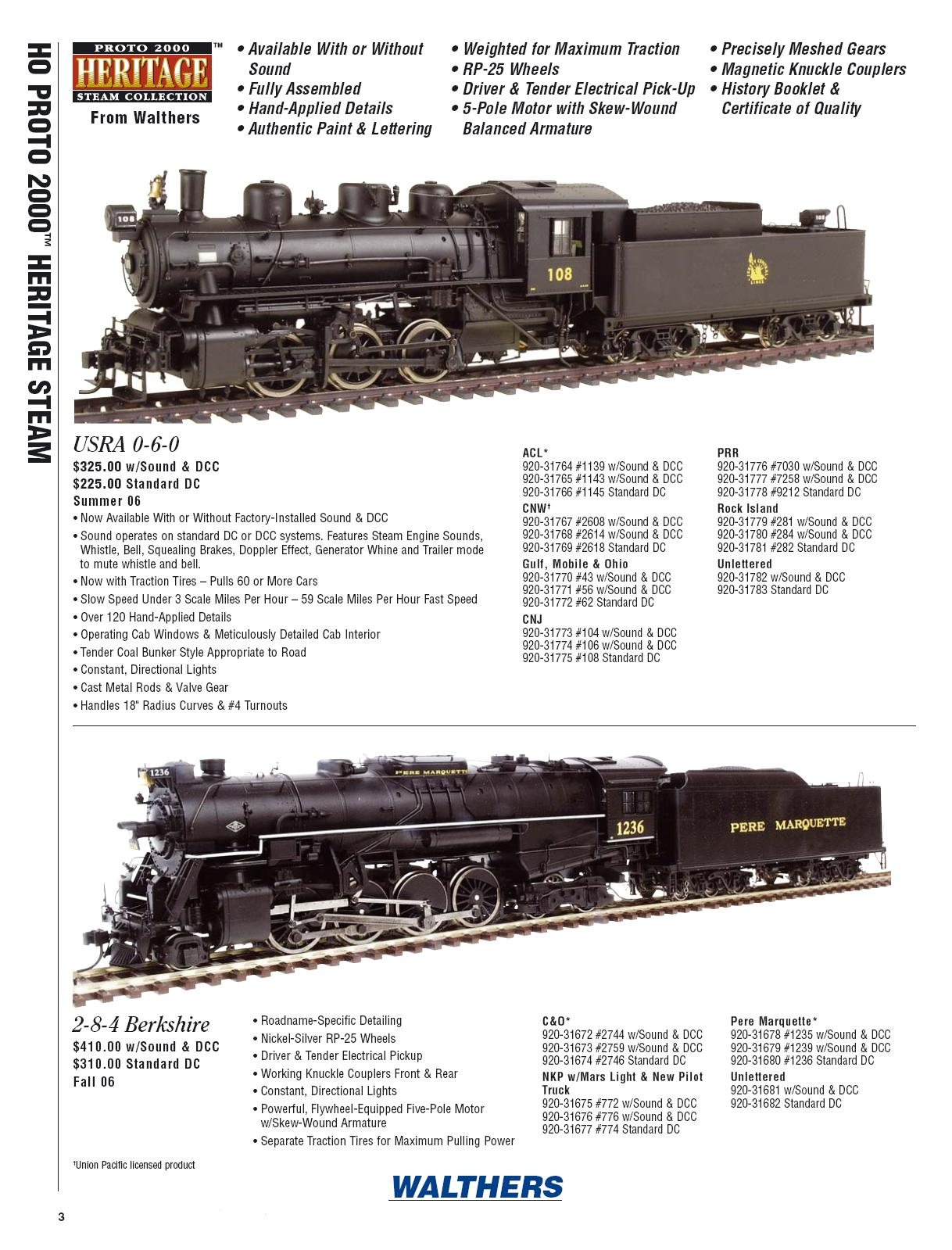 Walthers 2006 Cataloge steam page 2